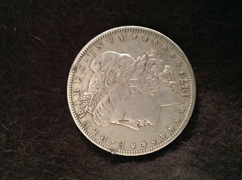1879 o Morgan Silver Dollar with error