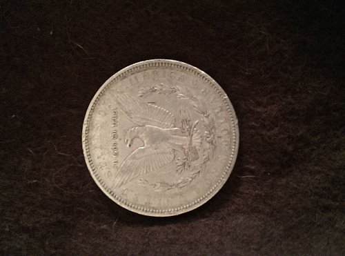 1879 o Morgan Silver Dollar with error