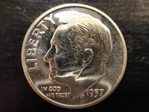 1957 Proof Roosevelt Dime Proof-64 (Near Gem)