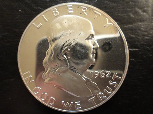 1962 Proof Franklin Half Dollar Proof-64 (Near Gem)