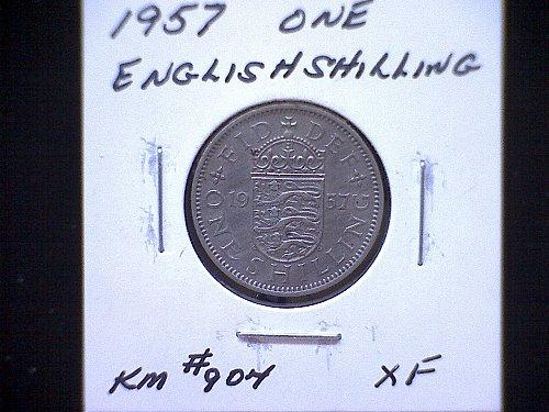 1957 GREAT BRITAIN QUEEN ELIZABETH 11  SHILLING