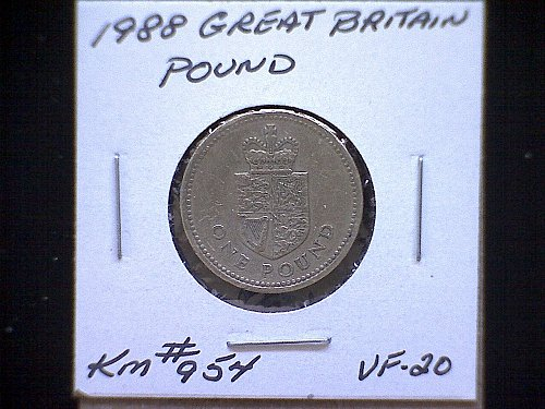 1988 GREAT BRITAIN QUEEN ELIZABETH 11  ONE POUND