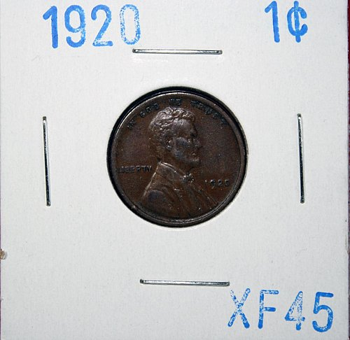 1920 LINCOLN CENT