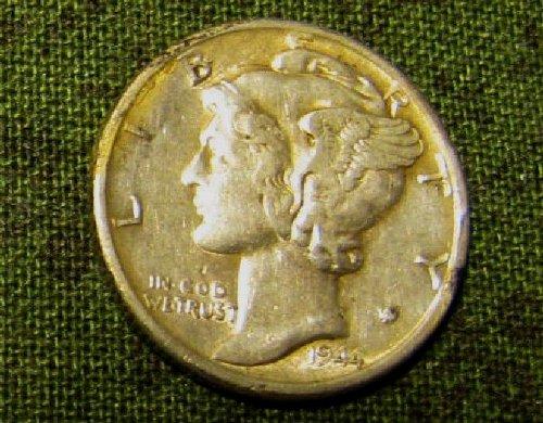 1944 D sharp UNC mercury Dime Toned/WIN 4 bids, GET 7 seven FREE DIMES!!!