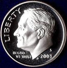 2003 S  PROOF ROOSEVELT DIME