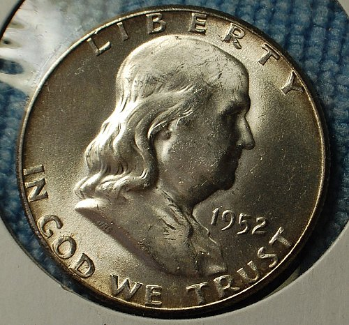1952 P Franklin Half Dollar - Great Uncirculated Cartwheel Luster