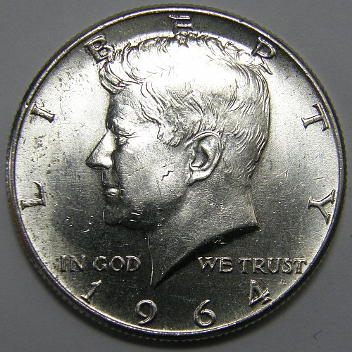 1964P Kennedy Half Dollar #3