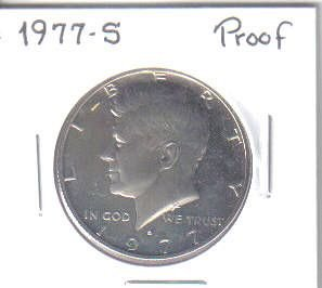 1977 S PROOF KENNEDY HALF DOLLAR
