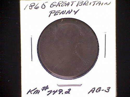 1865 GREAT BRITAIN QUEEN VICTORIA PENNY