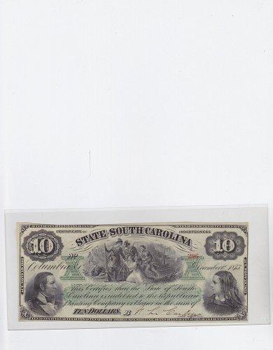 1873 $ 10 State South Carolina