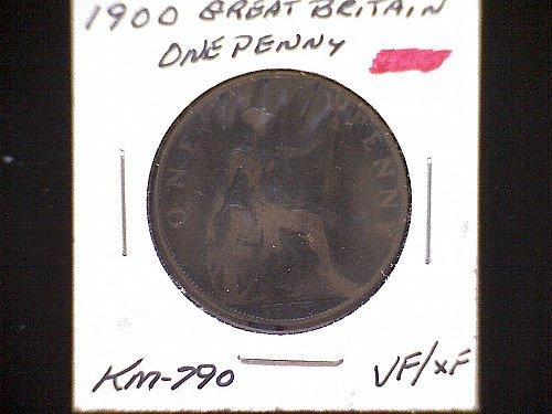 1900 GREAT BRITAIN QUEEN VICTORIA PENNY