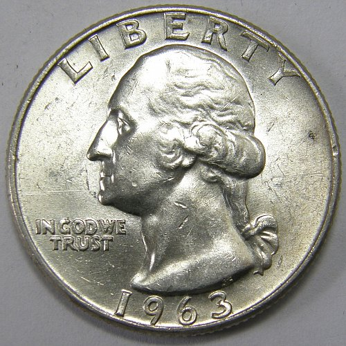 1963 D Washington Quarter #7