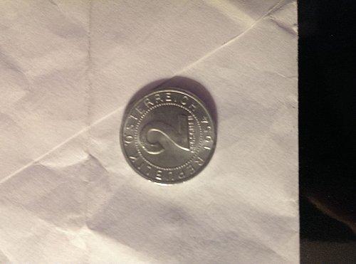 Uncirculated Austria 1954 2 groschen coin