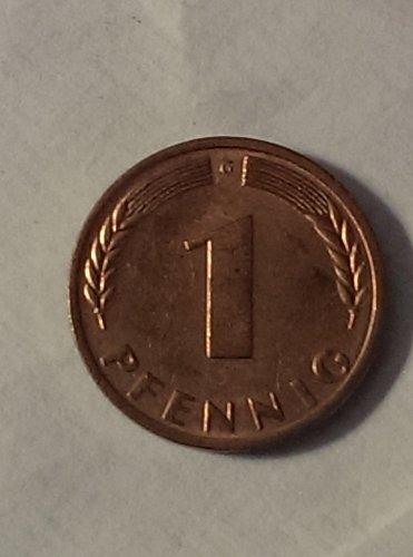 Uncirculated 1970 German 1 pfennig