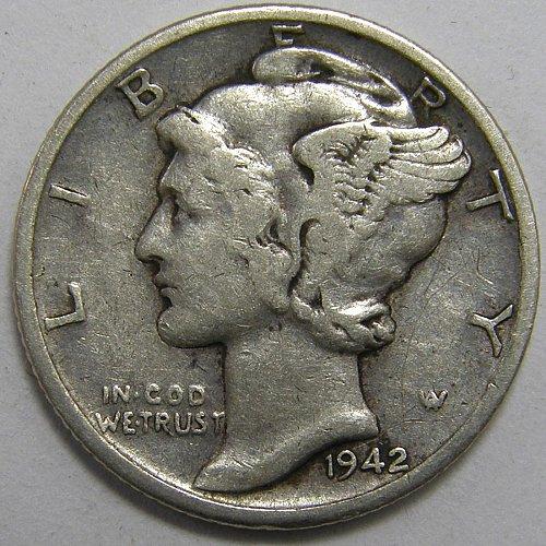 1942 D Mercury Dime #1