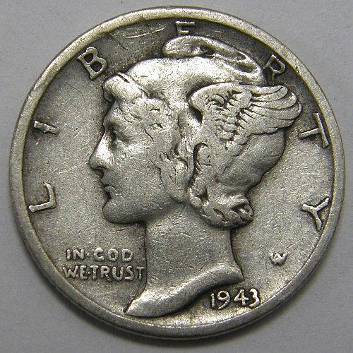 1943 D Mercury Dime #2