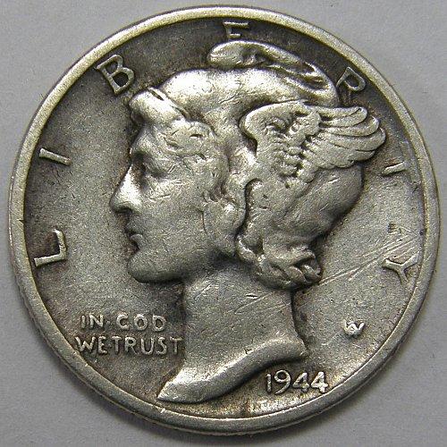 1944 S Mercury Dime #2