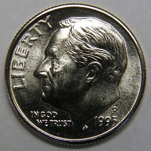 1995 P Roosevelt Dime #1