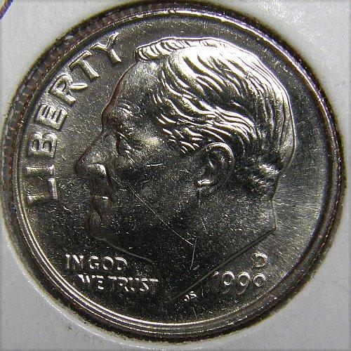1999 D Roosevelt Dime #1