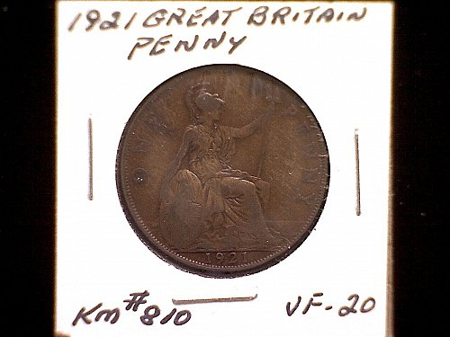 1921 GREAT BRITAIN KING GEORGE V PENNY