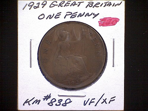 1929 GREAT BRITAIN KING GEORGE V PENNY