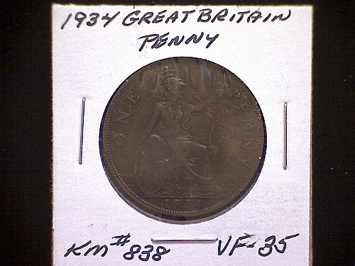 1934 GREAT BRITAIN KING GEORGE V PENNY