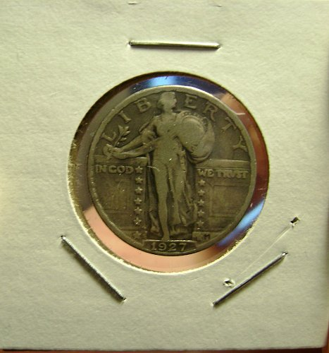 1927-S VG/F Standing Liberty Quarter Free Shipping