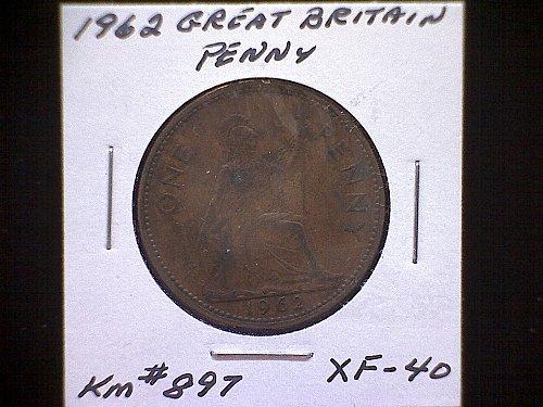 1962 GREAT BRITAIN QUEEN ELIZABETH 11 PENNY
