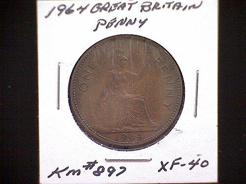1964 GREAT BRITAIN QUEEN ELIZABETH 11  PENNY