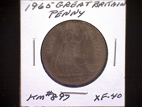 1965 GREAT BRITAIN QUEEN ELIZABETH 11  PENNY