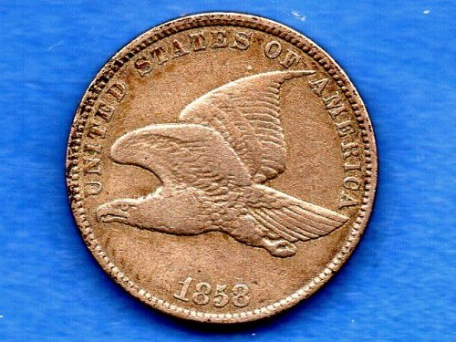 1858 SL Flying Eagle Penny Genuine Natural US Coin