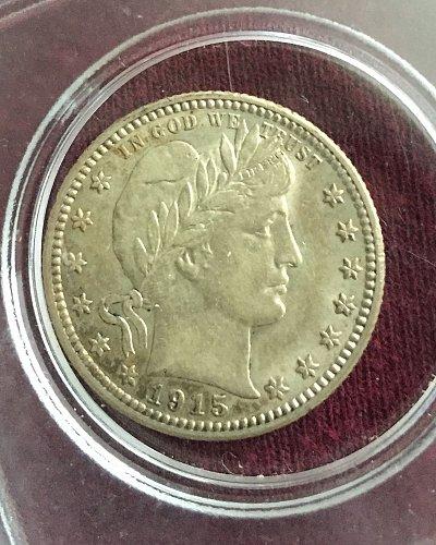 1915 D Barber Quarter inherited from my stepdad