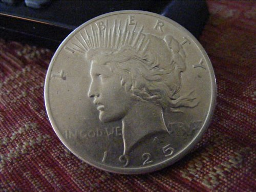 1925 P Peace Silver Dollar Coin