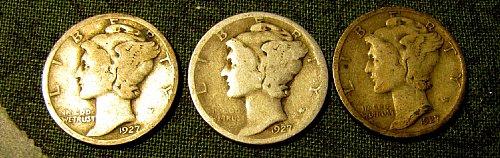 1927 P,D, & S    1927 D is Key!! + 1 FREE Dime**  A-69