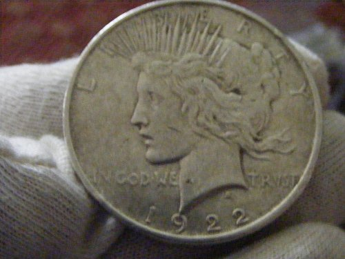 1922 D Peace Silver Dollar Coin