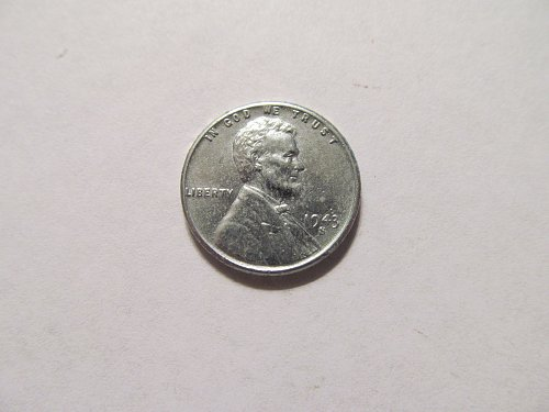 1943 S Lincoln steel cent