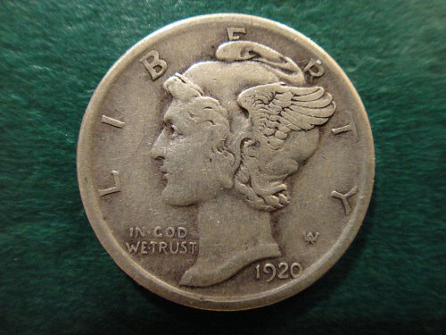 1920 Mercury Dime Extra Fine-40 Nice Pearl Grey Silver Coin