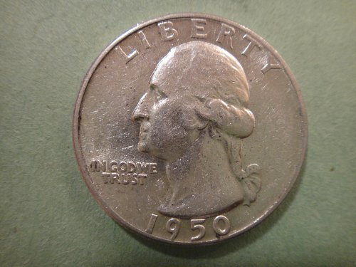 1950 Washington Quarter Almost Uncirculated-55 Nice Luster!