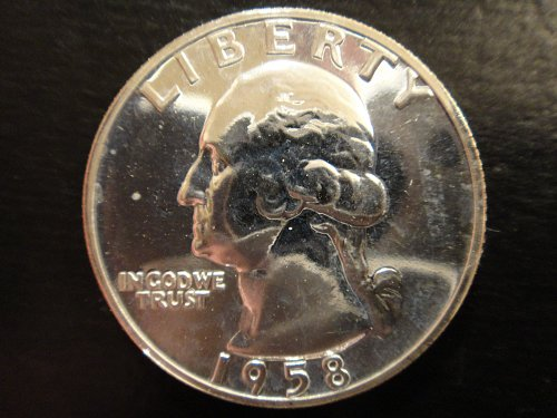1958 Proof Washington Quarter Proof-64 (Near Gem) Decent Example!