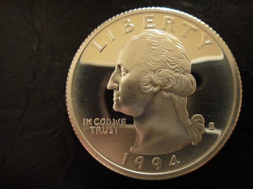 1994-S SILVER Proof Washington Quarter Proof-65 (GEM) Very Nice!