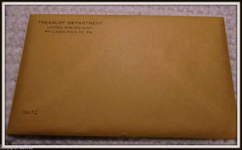 1962 United States Silver Proof Set  (Envelope Never Opened)
