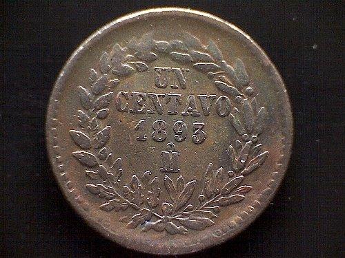 1893-MO MEXICO ONE CENTAVO