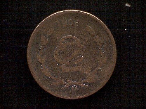 1906MO MEXICO TWO CENTAVOS