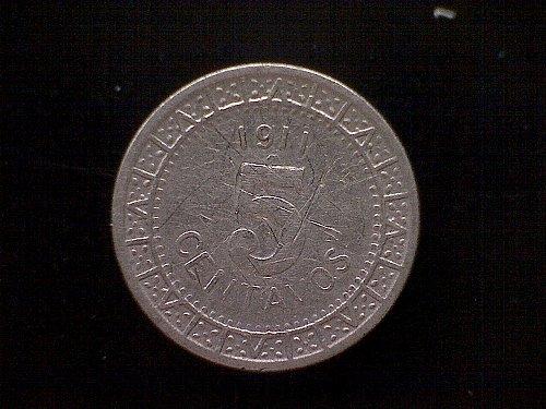 1911MO MEXICO FIVE CENTAVOS