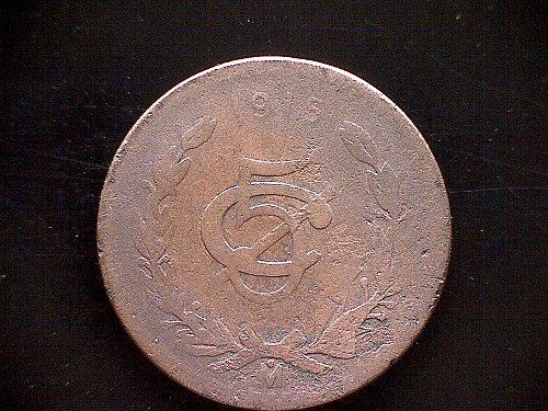 1915 MEXICO FIVE CENTAVOS