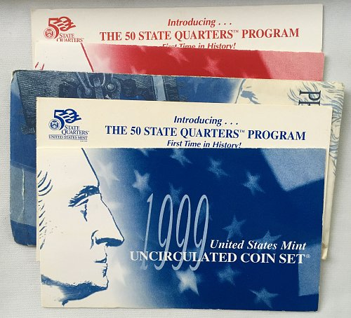 1999 PD Uncirculated Mint Sets - 18 Coins