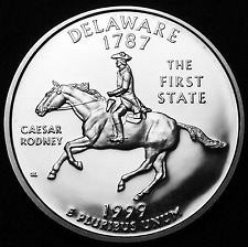 1999 S  SILVER PROOF DELAWARE STATE QUARTER