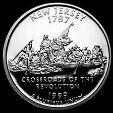 1999 S SILVER PROOF NEW JERSEY STATE QUARTER