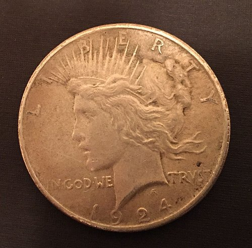1924 Peace Dollar - inherited from my stepdad