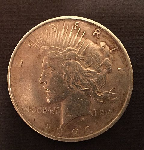 1922 Peace Dollar - inherited from my stepdad